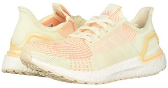adidas Ultraboost 19 (Off-White/Off-White/Glow Orange) Women's Shoes