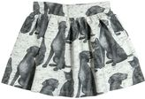 Finger In The Nose Animal Printed Fleece Lined Cotton Skirt