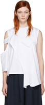 Enfold White Reconstructed Jersey T-shirt