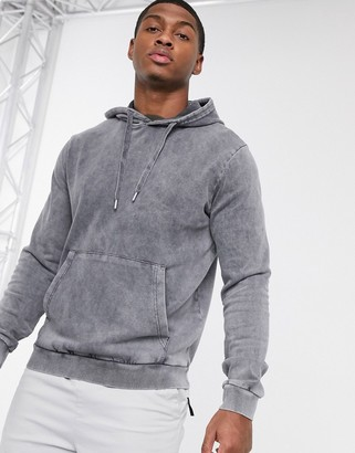 Bolongaro Trevor acid wash hoody-Grey