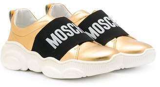 Moschino Kids slip-on sneakers