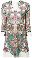 Etro abstract print dress - women - Cotton/Spandex/Elastane - 46