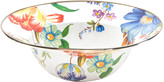 Mackenzie Childs MacKenzie-Childs - Flower Market Enamel Serving Bowl - White