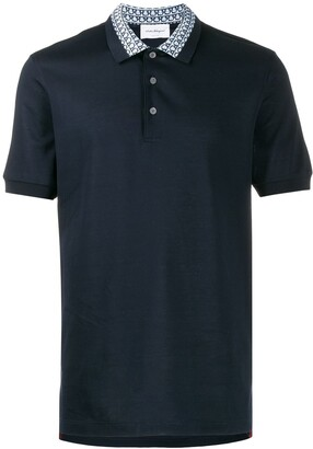 Salvatore Ferragamo Gancini collar polo shirt