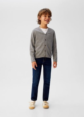 MANGO Button knit cardigan medium heather grey - 5 - Kids