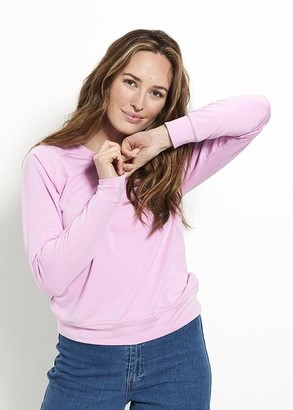 Stripe & Stare Sweatshirt Pink - Small