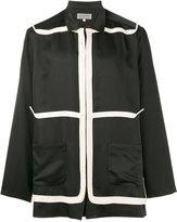 Yohji Yamamoto taped long sleeve jacket - men - Silk/Cotton - 4