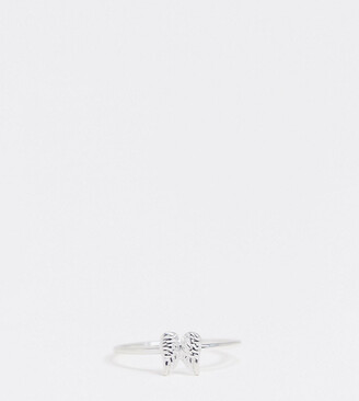 Asos Design DESIGN sterling silver ring in angel wing design