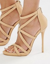 Missguided Strappy Heeled Gladiator Sandal