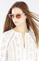 BCBGMAXAZRIA Retro Long Cat-Eye Sunglasses