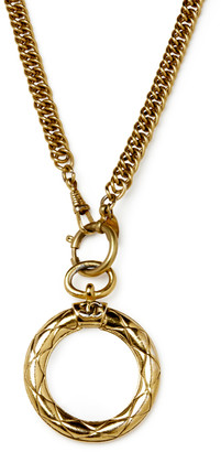 Chanel Vintage Loupe And Glass Pendant Necklace
