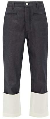 Loewe Fisherman Turn-up Cuff Jeans - Womens - Dark Denim