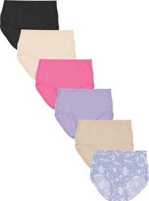 Hanes Women's Comfort Flex Fit Microfiber Brief Panty (Pack of 6)