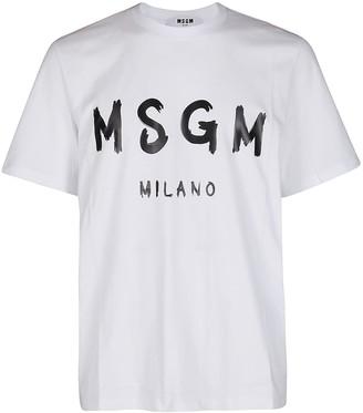 MSGM Paint Brush Logo T-Shirt