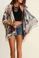 Umgee USA Fringe Detailed Kimono