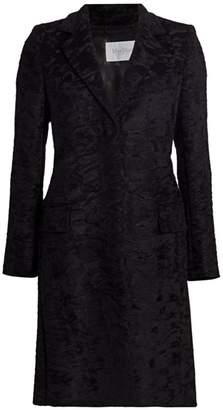 Max Mara Oncia Brocade Alpaca & Wool Tailored Coat