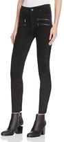 Paige Edgemont Suede Skinny Pants in Black