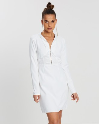Missguided Blazer Hook-and-Eye LS A-Line Dress