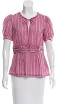 Tory Burch Short Sleeve Patterned Top