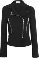Balenciaga Crepe Biker Jacket - Black
