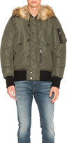 Diesel Esk Jacket with Faux Fur