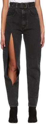 Maison Margiela Black High-Waisted Destroyed Jeans