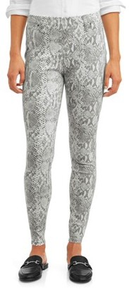 Time and Tru Women's Soft Knit Print Jeggings