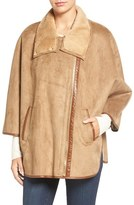 Ellen Tracy Women's Faux Shearling Cape