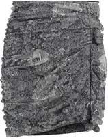 Isabel Marant Ipso Ruched Printed Silk-Blend Mini Skirt