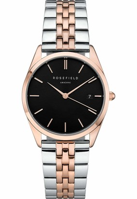 ROSEFIELD Women's Watch The Ace Black Silver Rose Gold ACBSD-A07