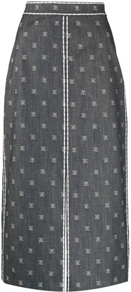 Fendi Karligraphy pencil skirt