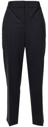 Theory Pinstriped Stretch-wool Straight-leg Pants