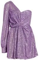 Amen One-Shoulder Sequin Cocktail Dress