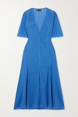 Vix Malia Cotton-voile Midi Dress - Azure