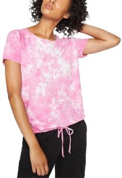 Sanctuary Lou Tie-Dyed Drawstring-Hem T-Shirt