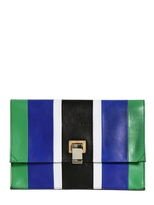Proenza Schouler Small Lunch Bag Patchwork Leather Clutch