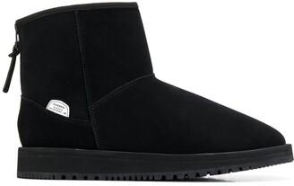 Suicoke logo zipped ankle boots