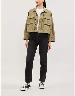 Rag & Bone Utility oversized cropped cotton jacket