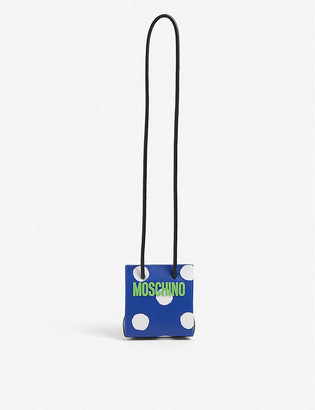 Moschino Logo-print micro leather cross-body bag