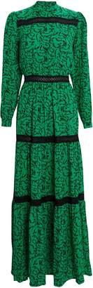 Résumé Scarlett Lace-Trimmed Floral Dress