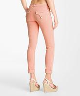 Hudson Peach Bacara Crop Straight-Leg Jeans