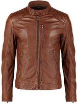 Oakwood Agency Leather Jacket Tobacco