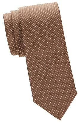 Canali Textured Dot-Print Silk Tie