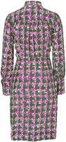 Sophie Theallet Green/Orchid Printed Button Down Dress