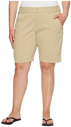 Columbia Plus Size Saturday Trail Long Short (British Tan) Women's Shorts