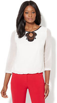 New York & Co. 7th Avenue - Lace-Accent Blouse