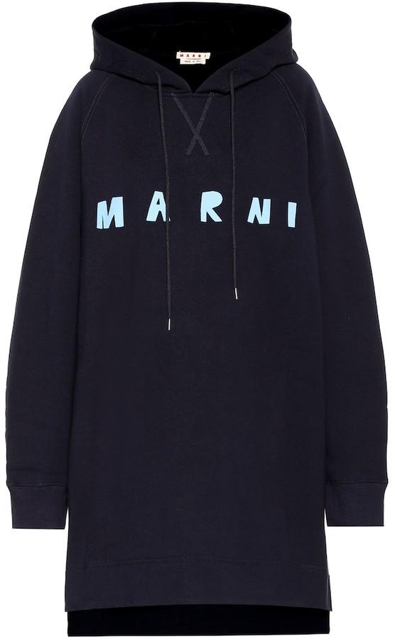 Marni Logo cotton sweatshirt dress