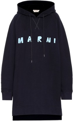Marni Logo cotton sweatshirt dress