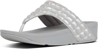 FitFlop Lulu Padded Shimmysuede Toe-Thongs