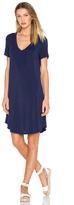 Heather V-Neck Pocket Tee Dress